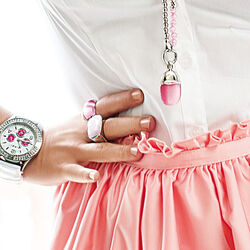 brede zilveren ring roze facet zirkonia zir678 Zinzi