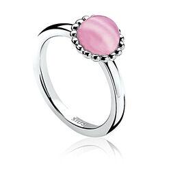 Zilveren ring met roze zirkonia ZIR793r