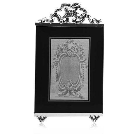 Zilveren fotolijst met strik van Raspini