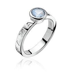 Zinzi mama ring blauw zirkonia zir849b bij Zilver.nl