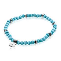 Zinzi cat eye turquoise armband Zia847t
