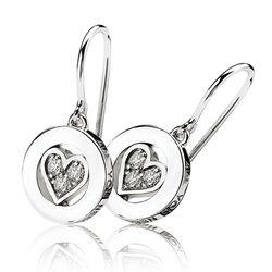 Zinzi zilveren love oorbellen met hartjes en zirkonia love03h