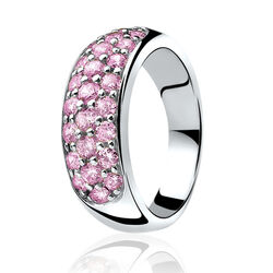 Zinzi ring roze zirconia zir334r