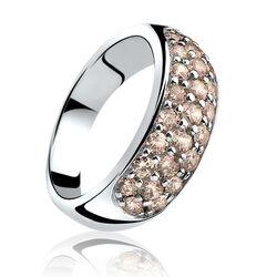 Zilver ring charmpagne zirkonia ZIR334c zinzi