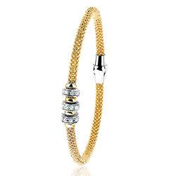Zinzi Armband 3 Beads Zirkonia Zia839g