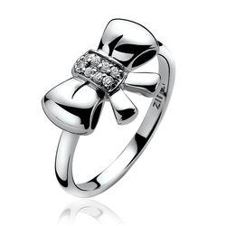 Zilver ring strik zirkonia Zinzi ZIR857
