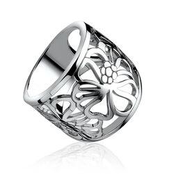 Brede ring bloem van zinzi zir817