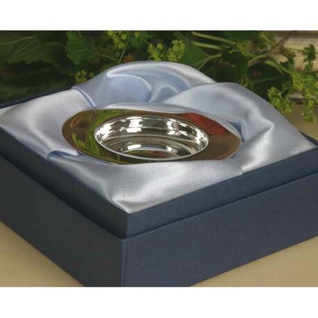 Zilveren bordje voor baby´s van Carrs