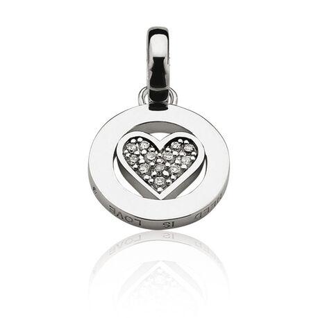 Zilver hangertje hart loveh3s Zinzi