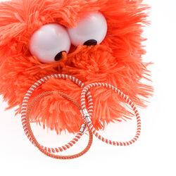Oranje witte armband zilver magneetsluiting