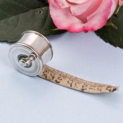 antieke zilveren centimeterhouder 18e eeuws strak glad