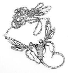 Zilveren collier met hanger libellen van GL Timeless
