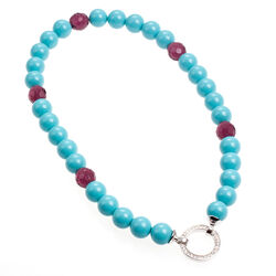 Zinzi Collier Turquoise En Beads Zic400pt