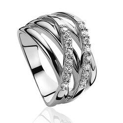 Zilveren ring witte zirkonia zir552 van zinzi