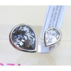 zilveren zinzi ring met swarovski crystal ZIR172
