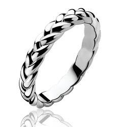 Smal gevlochten ring van Zinzi zir602