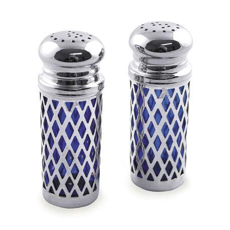 peper en zoutstel met blauw glas