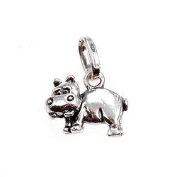 Zilver bedel nijlpaard van Raspini Charms