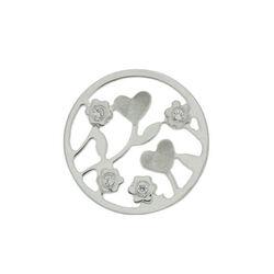 MY iMenso platte 24mm Insignia met bloemetjes en zirkonia 240221