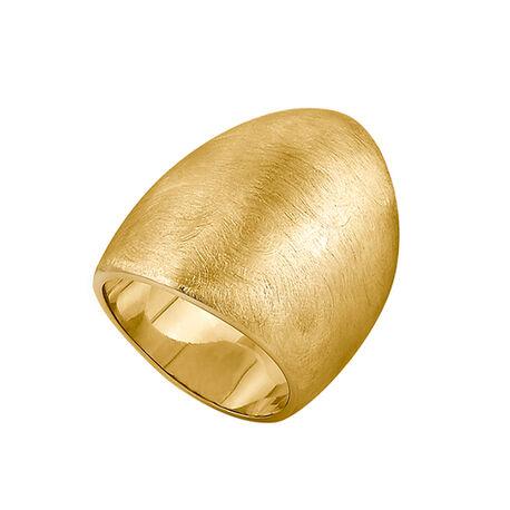 Verguld zilveren ring gematteerd van Adami en Martucci