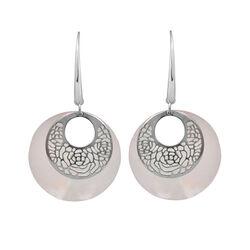 Zilveren oorbellen met parelmoer Adami en Martucci