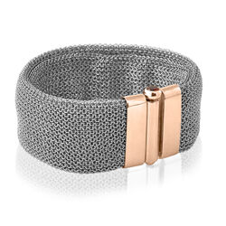 Armband mesh met roséverguld slot Adami en Martucci