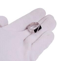 Zilveren ring met onyx voor mannen