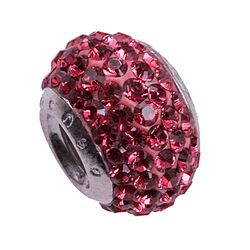 Imenso Zilveren Bead Roze
