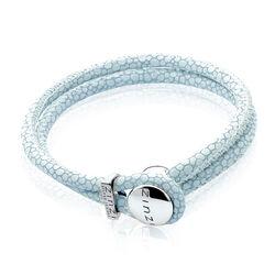 Zinzi Leren Armband Blauw Zia846b