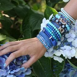 Zinzi armband blauw roggeleer ZIA846b