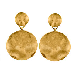 Verguld zilveren oorhangers Adami en Martucci