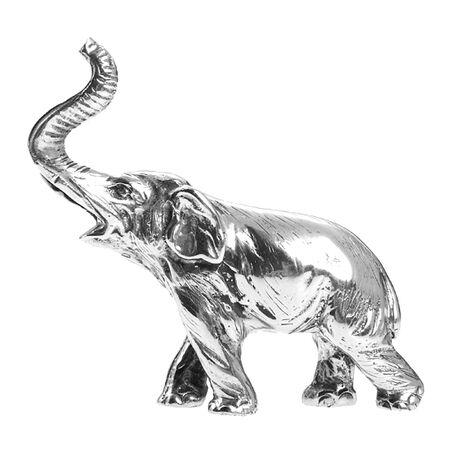 Zilveren olifantje met slurf omhoog