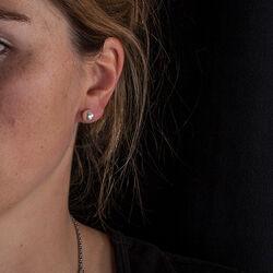 gouden oorstekers Akoya parel wit 8 mm