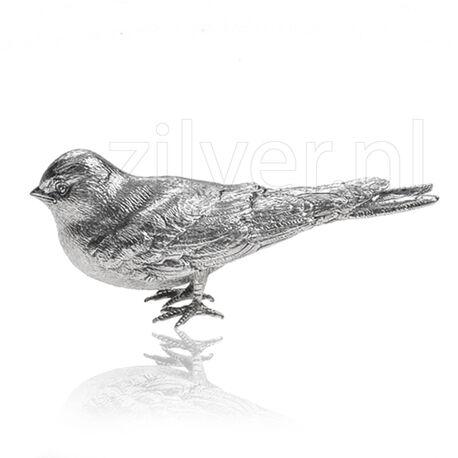 Zilveren Tafelstuk Zwaluw Rechtkijkend Kopje