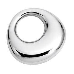 Gladde zilveren bijring van Carrs