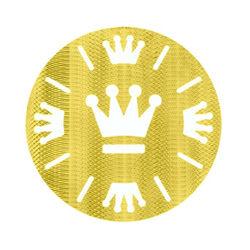MY iMenso Zilveren Vergulde Platte Cover Kroon 330801