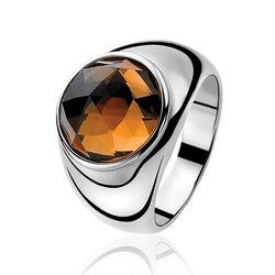Zinzi Ring Bruin Zirkonia Zir556b