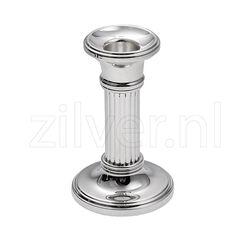 Zilveren Kandelaar Fijne Rib 10 cm