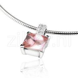 Zinzi Hanger Roze Zirkonia Zih265r