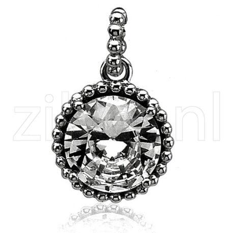 Zilver hanger grote zirkonia zih842 Zinzi