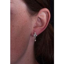Zilver oorbellen met swarovski kristallen GL