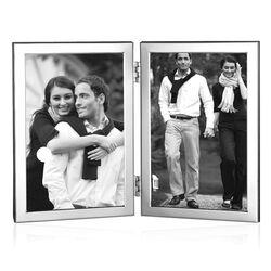 Zilveren dubbele Fotolijst Fr019 Carrs