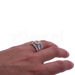 Set van 3 ringen met zirconia