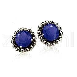 Zinzi Oorknoppen Blauw Zirkonia Zio842b