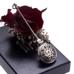 Zilveren miniatuur beddenpan