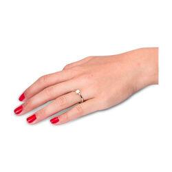 Witgouden ring met diamant solitair