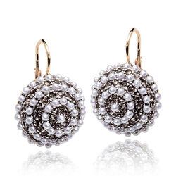 Zilveren oorbellen verguld met pareltjes