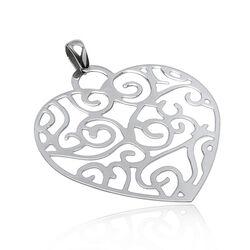 Zilveren hanger hart