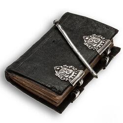 antiek notitieboekje zilveren sloten