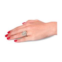 Witgouden ring met diamant